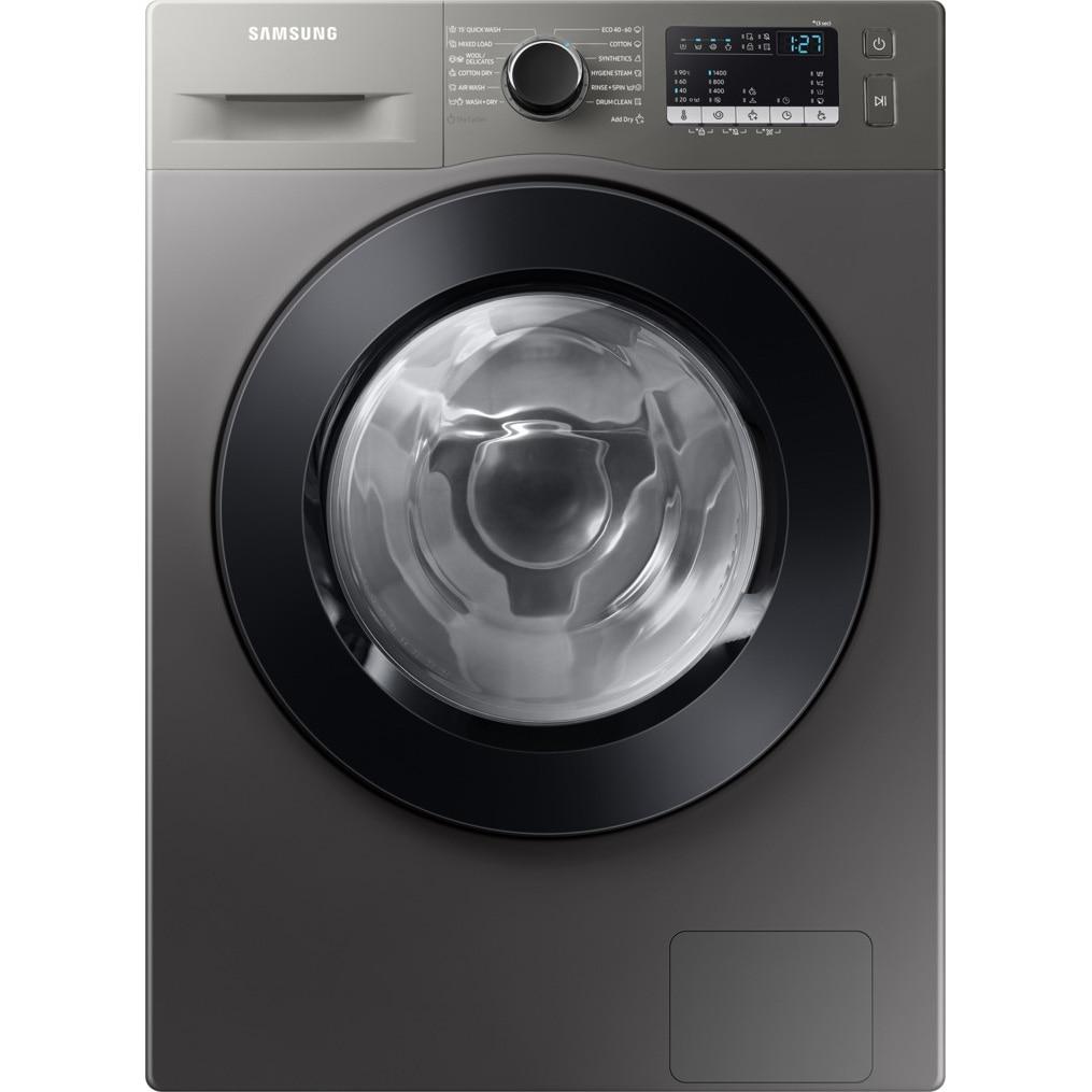 Fotografie Masina de spalat rufe cu uscator Samsung WD80T4046CX/LE, Spalare 8 kg, Uscare 5 kg, 1400 RPM, Clasa C, Eco Bubble, Bubble Soak, Steam, Airwash, Motor Digital Inverter, Inox