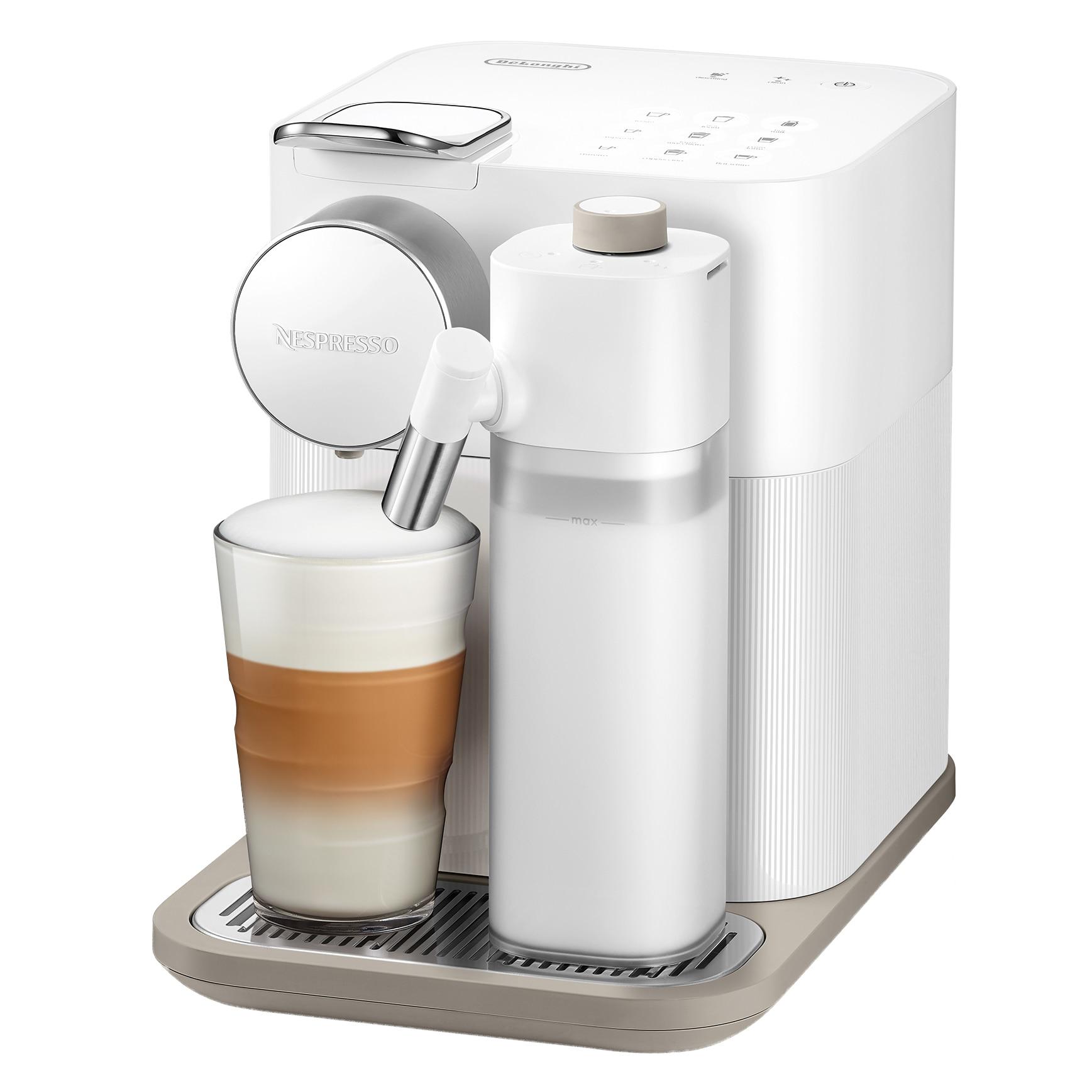 Fotografie Espressor Nespresso Gran Lattissima EN650.WH, 1400 W, 1.3 L, 19 bar, Alb + 14 capsule cadou