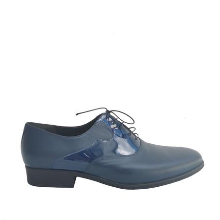 Pantofi barbatesti din piele naturala, Veronesse B1, bleumarin, 42