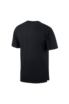 Nike, Dri Fit logómintás sportpóló, Fekete