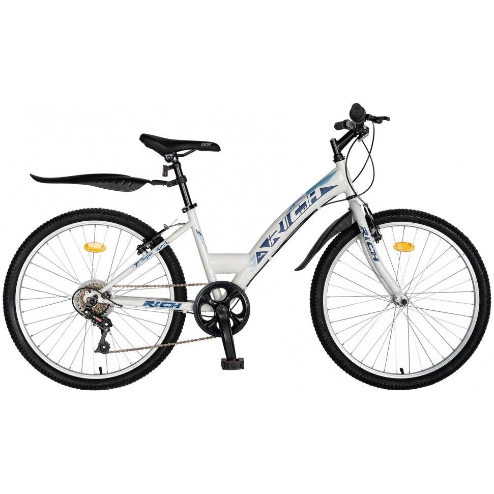 "Fotografie Bicicleta Trekking 24"" Rich R2430A, 6 viteze, Alb"