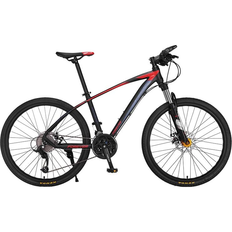 """Fotografie Bicicleta MTB-HT Forever F26R7B, roata 26"""", cadru aluminiu, 27 viteze, culoare negru/rosu"""