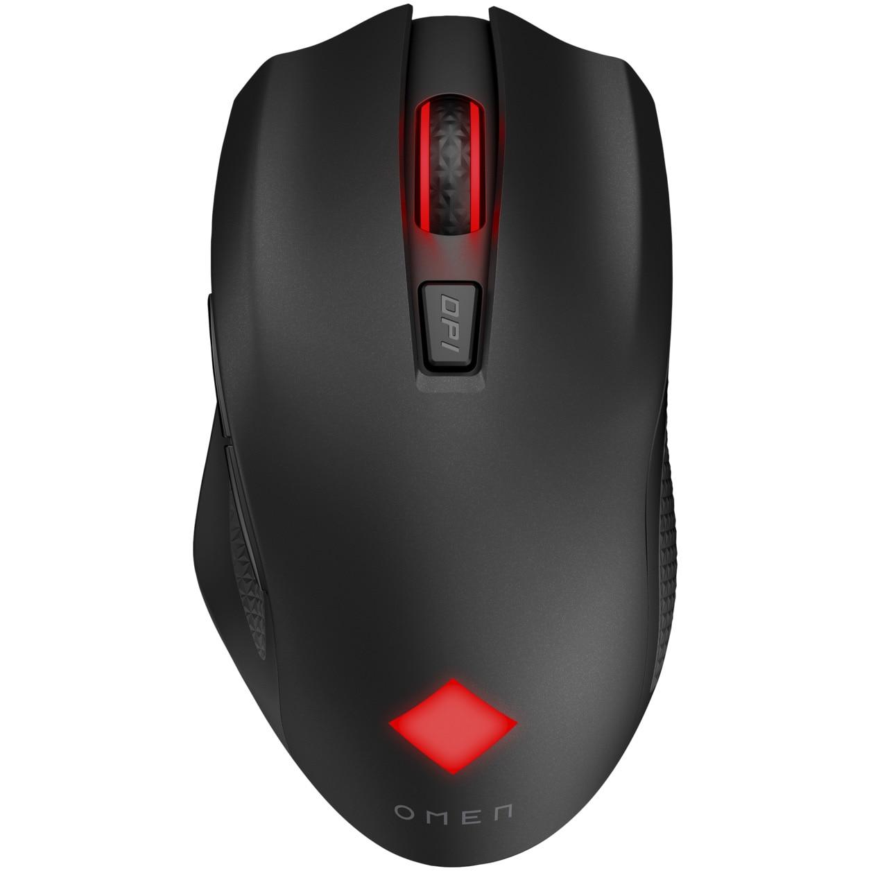 Fotografie Mouse gaming wireless HP OMEN Vector, ergonomic, iluminare RGB, incarcare USB-C, Negru