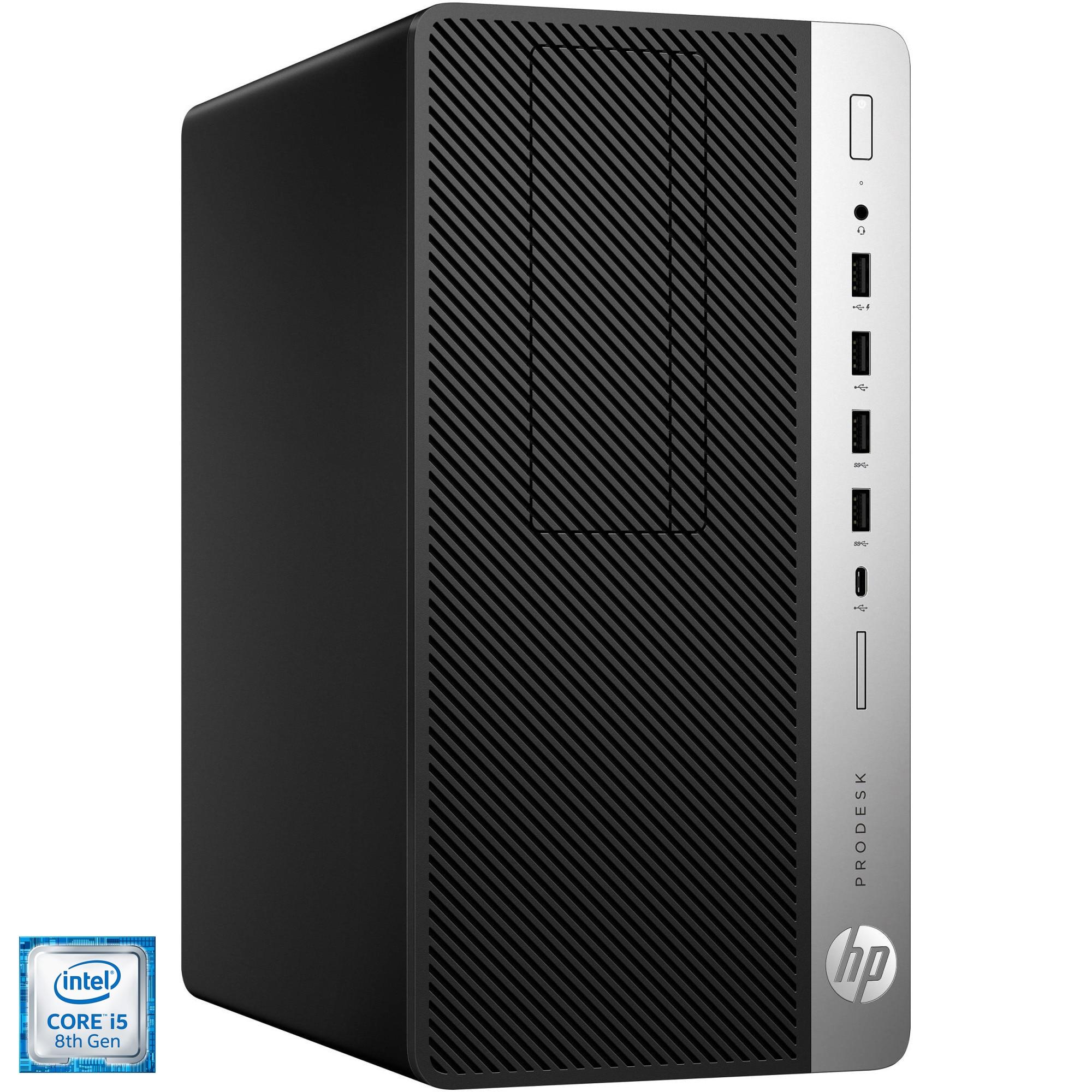 Fotografie Sistem Desktop PC HP ProDesk 600 G5 MT cu procesor Intel® Core™ i5-8500 pana la 4.10 GHz, Coffee Lake, 8GB DDR4, DVD-RW, 256GB SSD + 512GB SSD, Intel® UHD Graphics 630, Free DOS