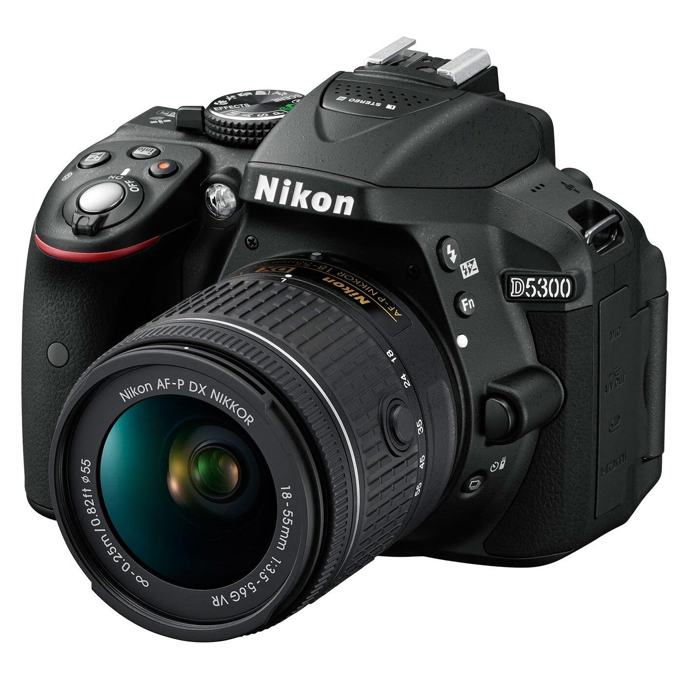 Fotografie Aparat foto DSLR Nikon D5300, 24,2MP Black + Obiectiv AF-P 18-55mm VR