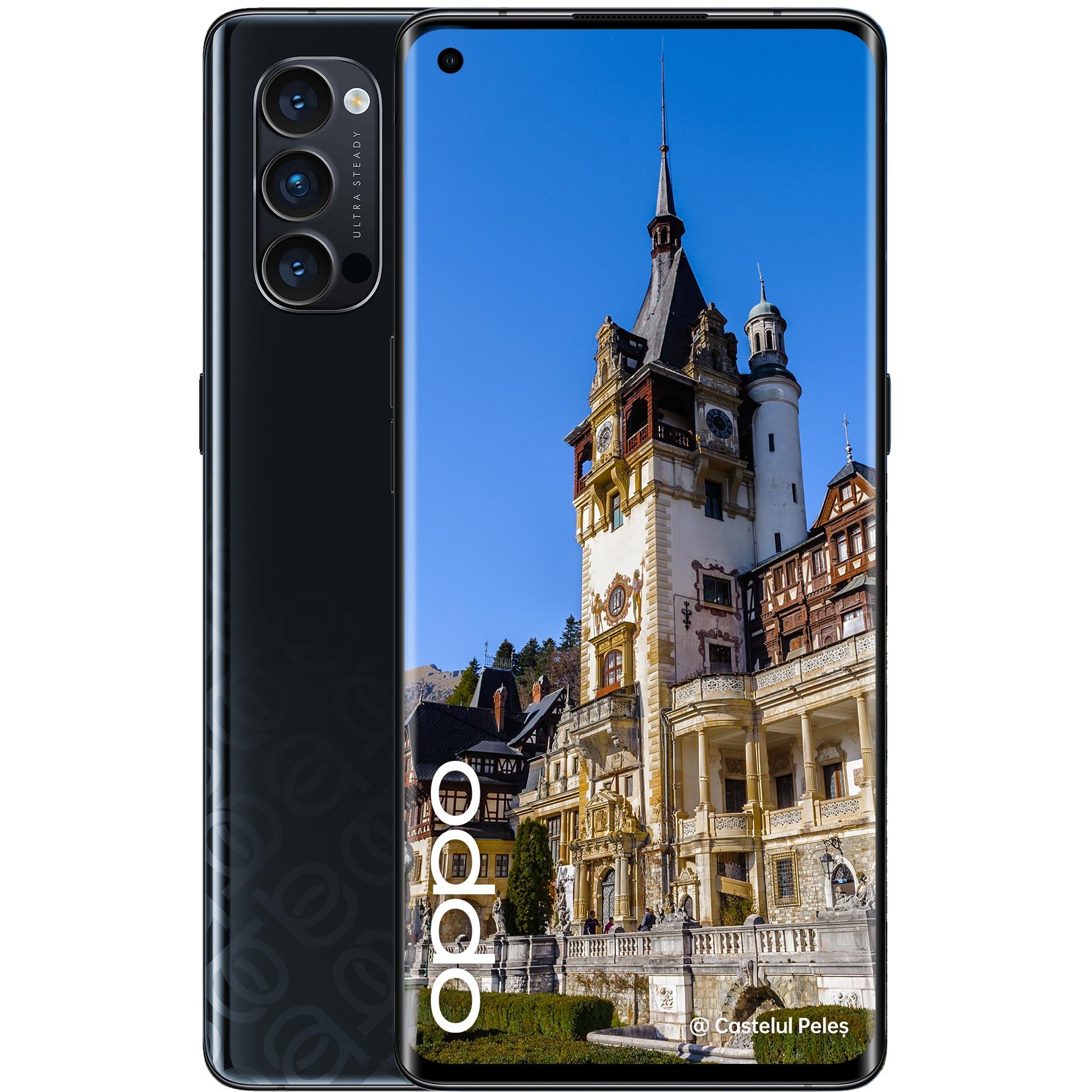 Fotografie Telefon mobil Oppo Reno 4 Pro, Dual SIM, 256GB, 12GB RAM, 5G, Space Black