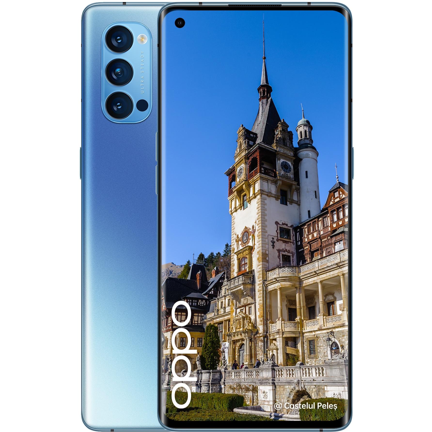 Fotografie Telefon mobil Oppo Reno 4 Pro, Dual SIM, 256GB, 12GB RAM, 5G, Galactic Blue