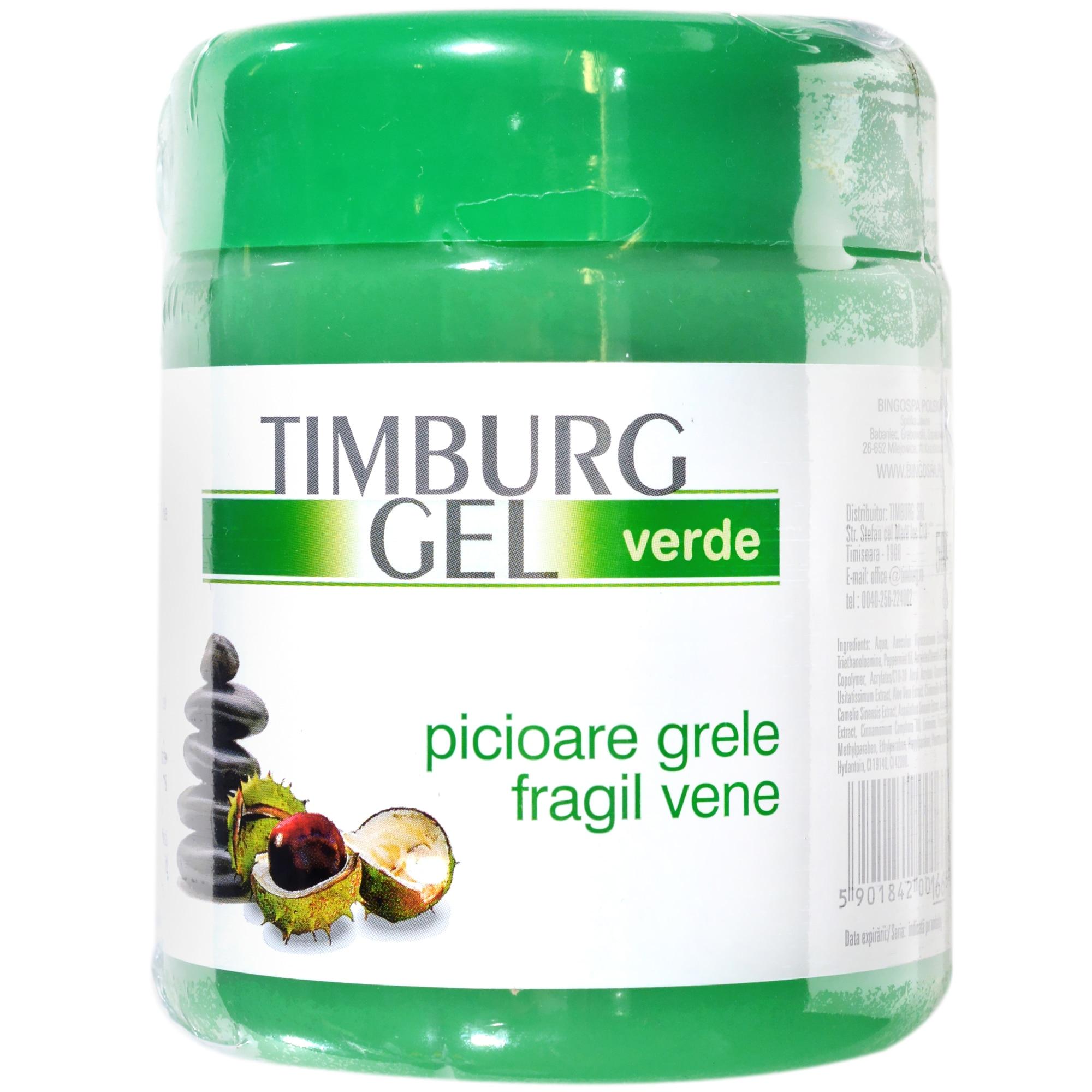 timburg gel verde picioare grele fragil vene