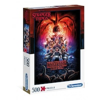 Stranger Things Puzzle Season 2 , 500 db-os , 49x36cm, Fekete