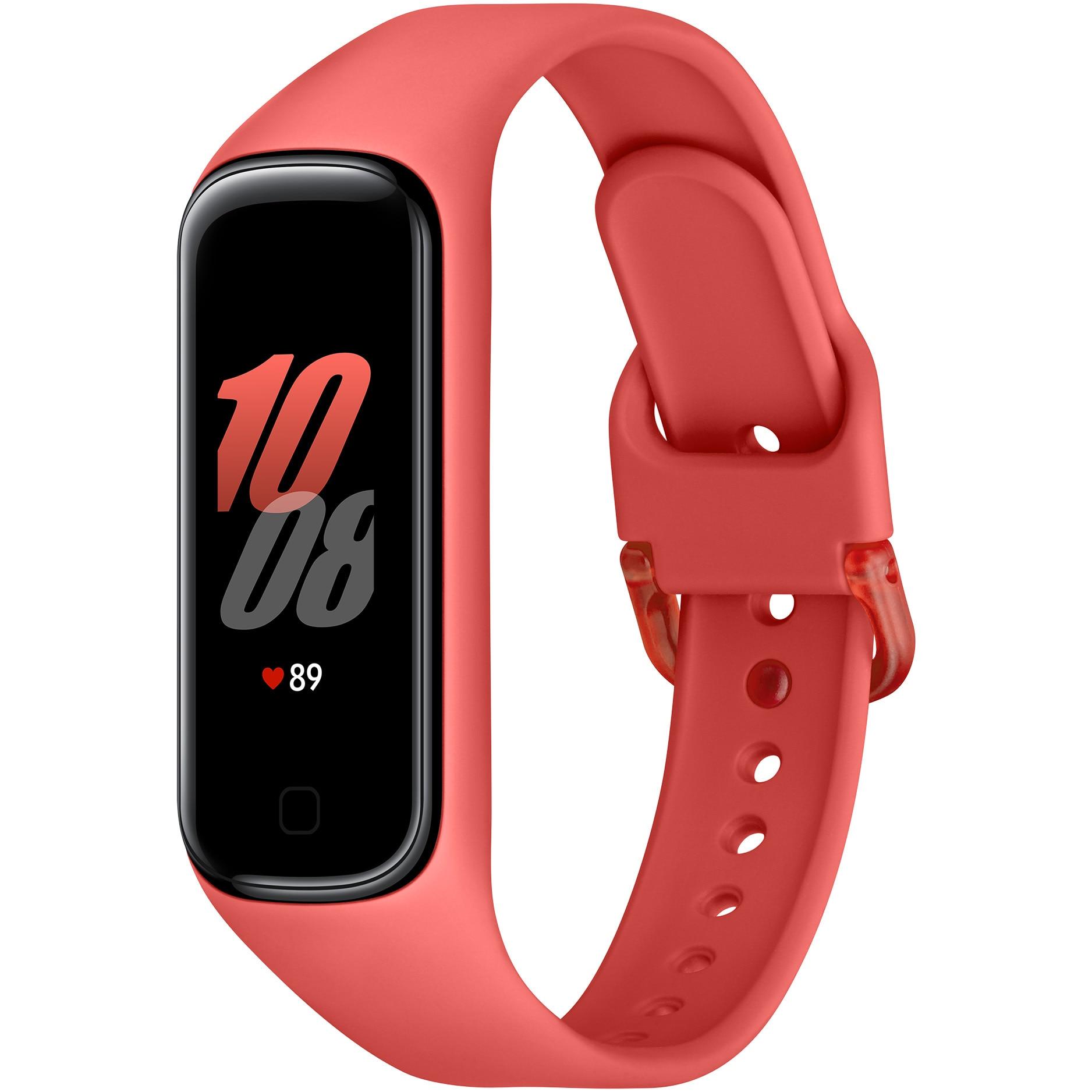 Fotografie Bratara fitness Samsung Galaxy Fit 2, Red