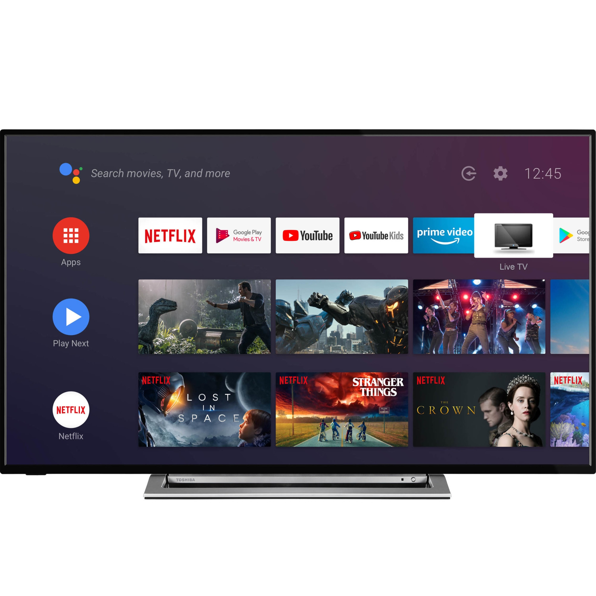 Fotografie Televizor Toshiba 50UA3A63DG, 126 cm, Smart Android, 4K Ultra HD, LED, Clasa G