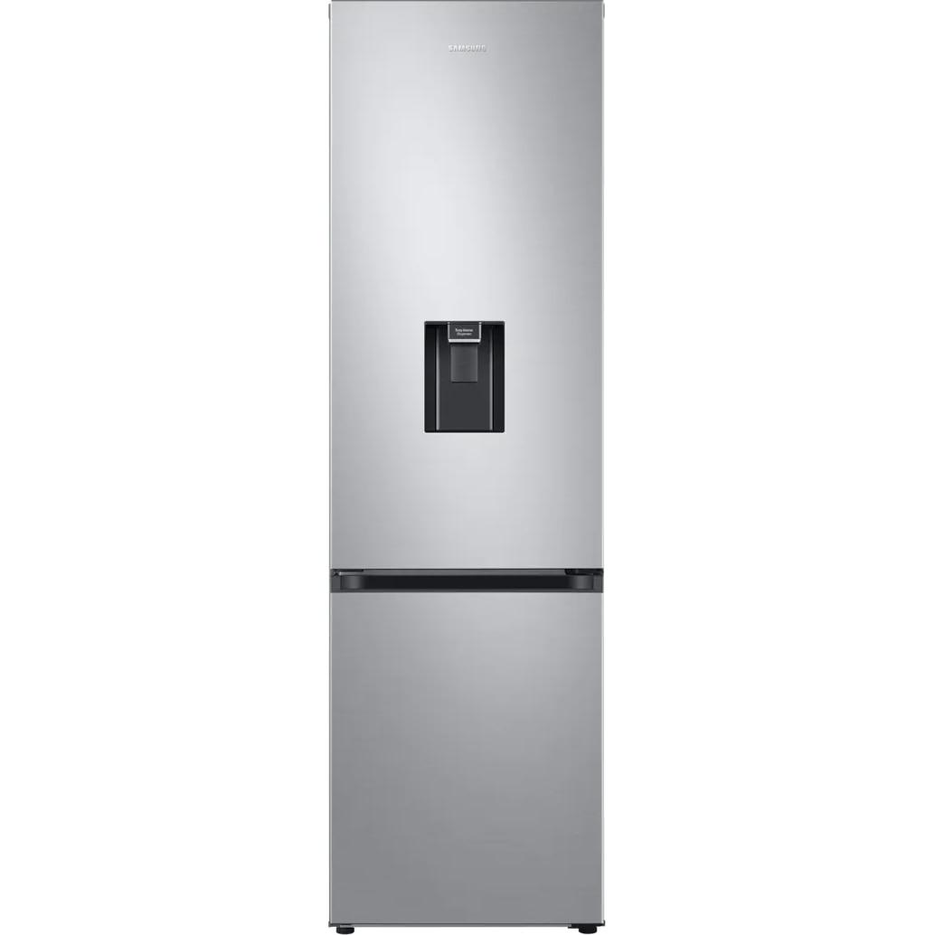 Fotografie Combina frigorifica Samsung RB38T630ESA/EF, 376 l, Clasa E, No Frost, Compresor Digital Inverter, All around coooling, Dispenser apa, H 203 cm, Argintiu