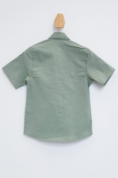 DeFacto, Camasa din denim cu buzunare cu clapa, Verde sparanghel