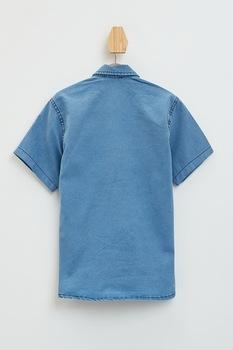 DeFacto, Camasa din denim cu buzunare cu clapa, Albastru