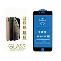 Стъклен Протектор за iPhone SE 2020, 10D Premium Full, Черен
