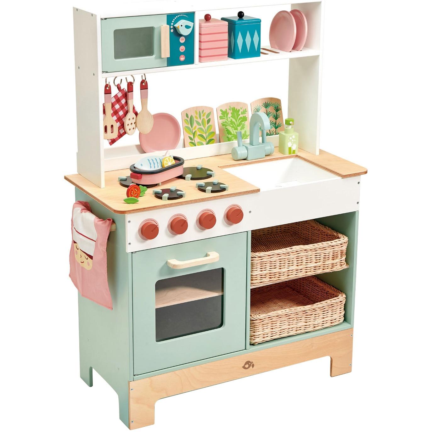 Fotografie Bucatarie din lemn Tender Leaf Toys - Kitchen Range, 15 piese