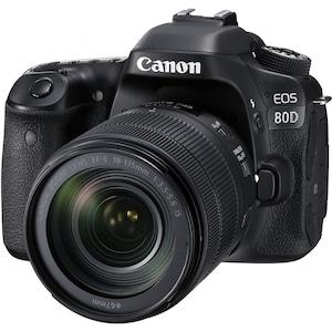 Aparat foto DSLR Canon EOS 80D, 24.2 MP, WiFi, Negru + Obiectiv EF-S 18-135mm IS