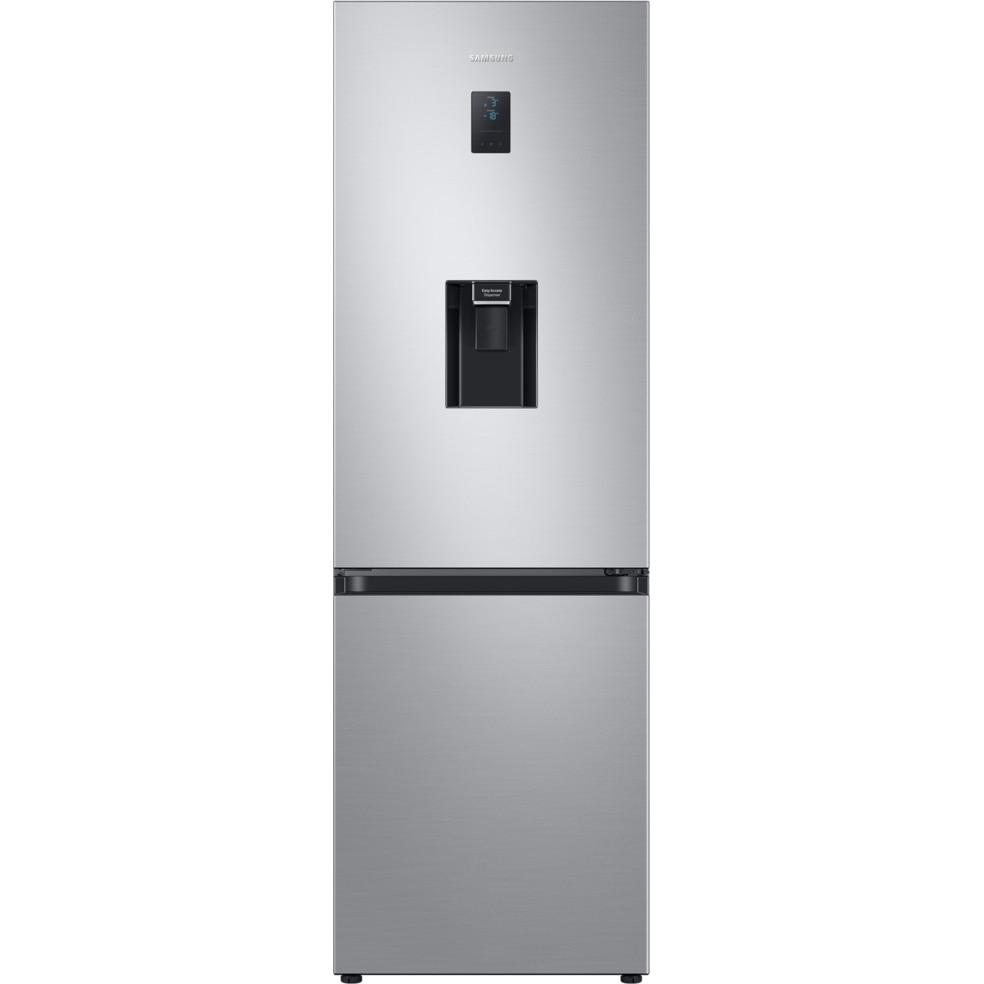Fotografie Combina frigorifica Samsung RB34T652ESA/EF, 331 l, Clasa E, NoFrost, Compresor Digital Inverter, All around coooling, Dozator apa, H 185 cm, Argintiu