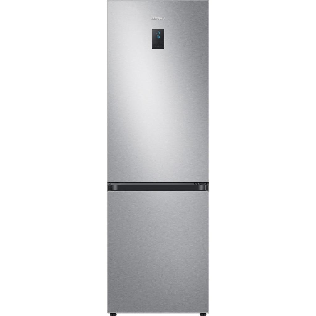 Fotografie Combina frigorifica Samsung RB34T671ESA/EF, 340 l, Clasa E, NoFrost, Compresor Digital Inverter, All around coooling, H 185 cm, Argintiu