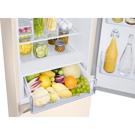 Хладилник с фризер Samsung RB34T672FEL/EF, 340 л, NoFrost, Цифров инверторен компресор, All around coooling, Клас A+, H 185 см, Beige