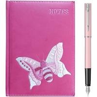 Stilou Waterman Allure pastel pink + agenda A5 brodata
