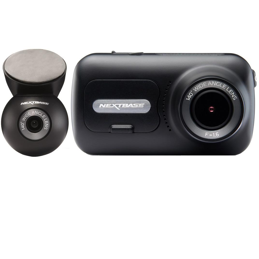 "Fotografie Camera auto duala DVR Nextbase NBDVR322GW+NBDVRS2RWC, Rezolutie Full HD, Display tactil IPS 2.5"". Wi-Fi. Bluetooth, Aplicatie iOS, Android. Localizare GPS, 140° , Suport magnetic cu incarcare+Camera spate, Rezolutie HD, 140°"