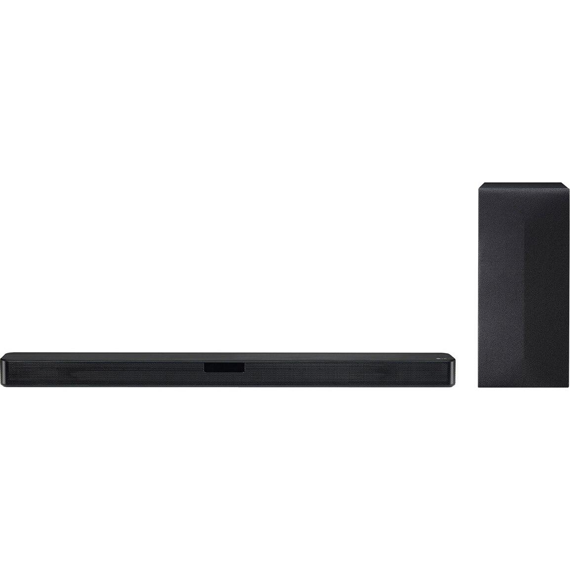 Fotografie Soundbar LG SN4, 2.1, 300W, Bluetooth, Subwoofer Wireless, Dolby, negru