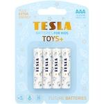 Baterii jucarii copii baieti Tesla AAA, Alkaline, 4 buc