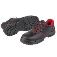 Защитни работни обувки, Черни с червено, Размер 42