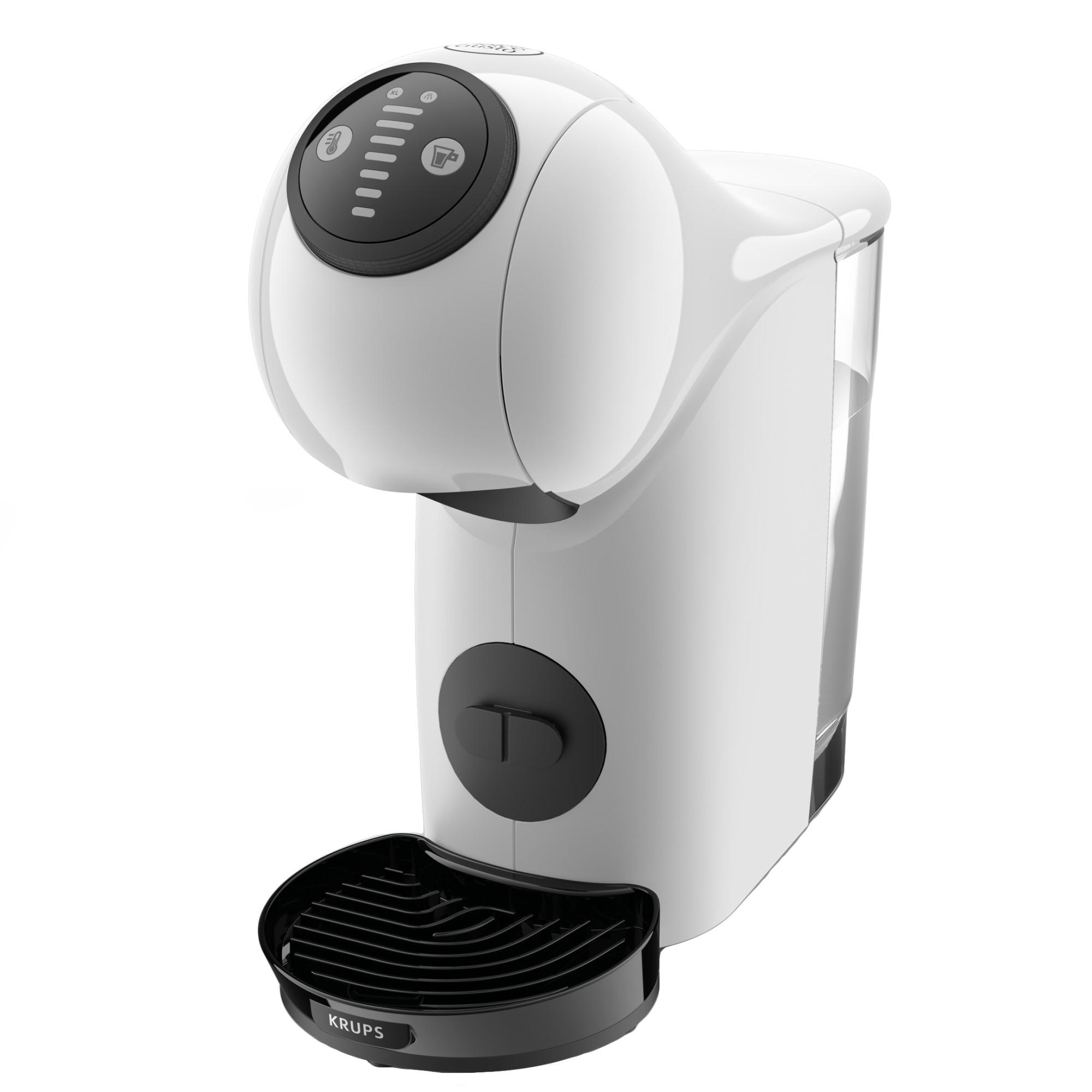 Fotografie Espressor cu capsule Krups NESCAFÉ® Dolce Gusto® Genio S KP240131, 1500 W, 15 bari, Play&Select, functie XL 300ml, rezervor 0.8L, alb