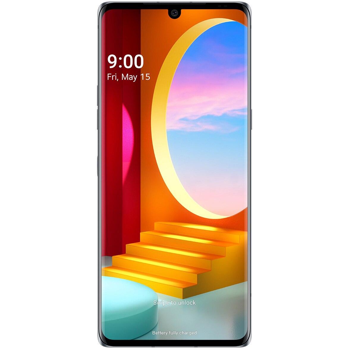 Fotografie Telefon mobil LG Velvet, 128GB, 6GB RAM, 5G, Aurora Gray