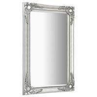 vidaXL ezüstszínű barokk stílusú fali tükör 60 x 100 cm