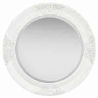 vidaXL fehér barokk stílusú fali tükör 50 cm