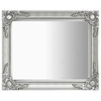 vidaXL ezüstszínű barokk stílusú fali tükör 50 x 60 cm