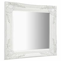 vidaXL fehér barokk stílusú fali tükör 50 x 50 cm