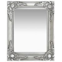 vidaXL ezüstszínű barokk stílusú fali tükör 50 x 40 cm