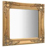 vidaXL aranyszínű barokk stílusú fali tükör 50 x 50 cm