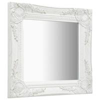 vidaXL fehér barokk stílusú fali tükör 40 x 40 cm