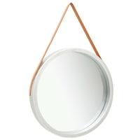 vidaXL ezüstszínű fali tükör szíjjal 60 cm