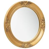 vidaXL aranyszínű barokk stílusú fali tükör 50 cm