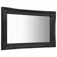 vidaXL fekete barokk stílusú fali tükör 60 x 40 cm