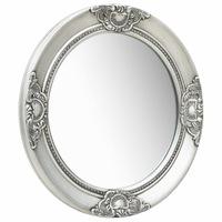 vidaXL ezüstszínű barokk stílusú fali tükör 50 cm