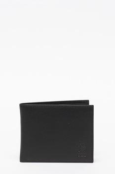 U.S. Polo Assn., Portofel pliabil de piele, Negru