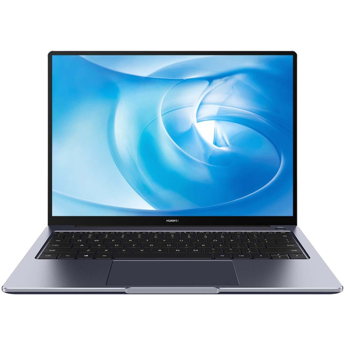 "Fotografie Laptop ultraportabil Huawei MateBook 14 cu procesor AMD Ryzen 5 4600H pana la 4.00 GHz, 14"", 2K, 8GB, 256GB SSD, AMD Radeon Graphics, Windows 10 Home, Gray"