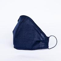 3 rétegű mosható textil maszk G3 szűrővel - Sötétkék- L (férfi) méret