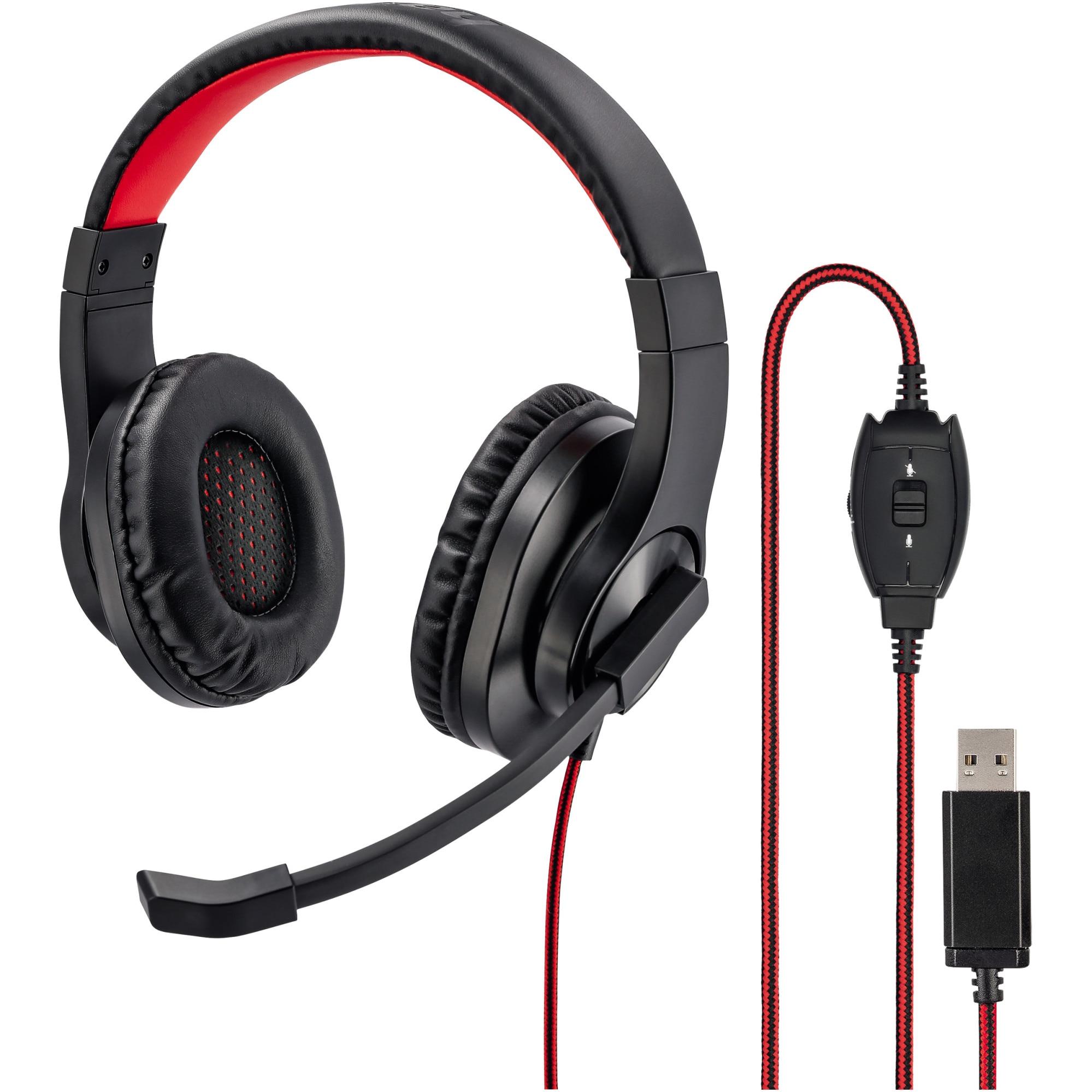 Fotografie Casti PC Hama HS-USB400 Office Headset, Stereo, USB, Negru