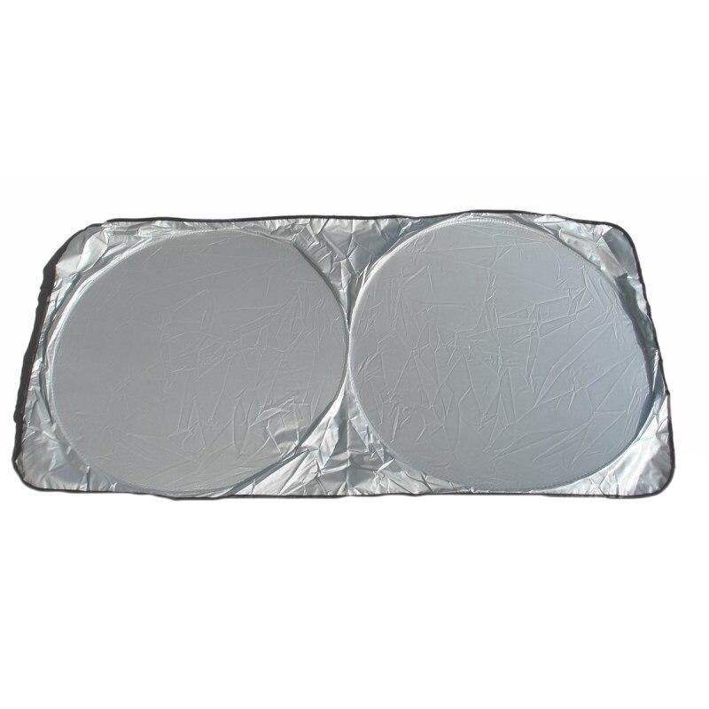 Fotografie Parasolar cu arcuri RoGroup, 140 cm x 70 cm, Argintiu