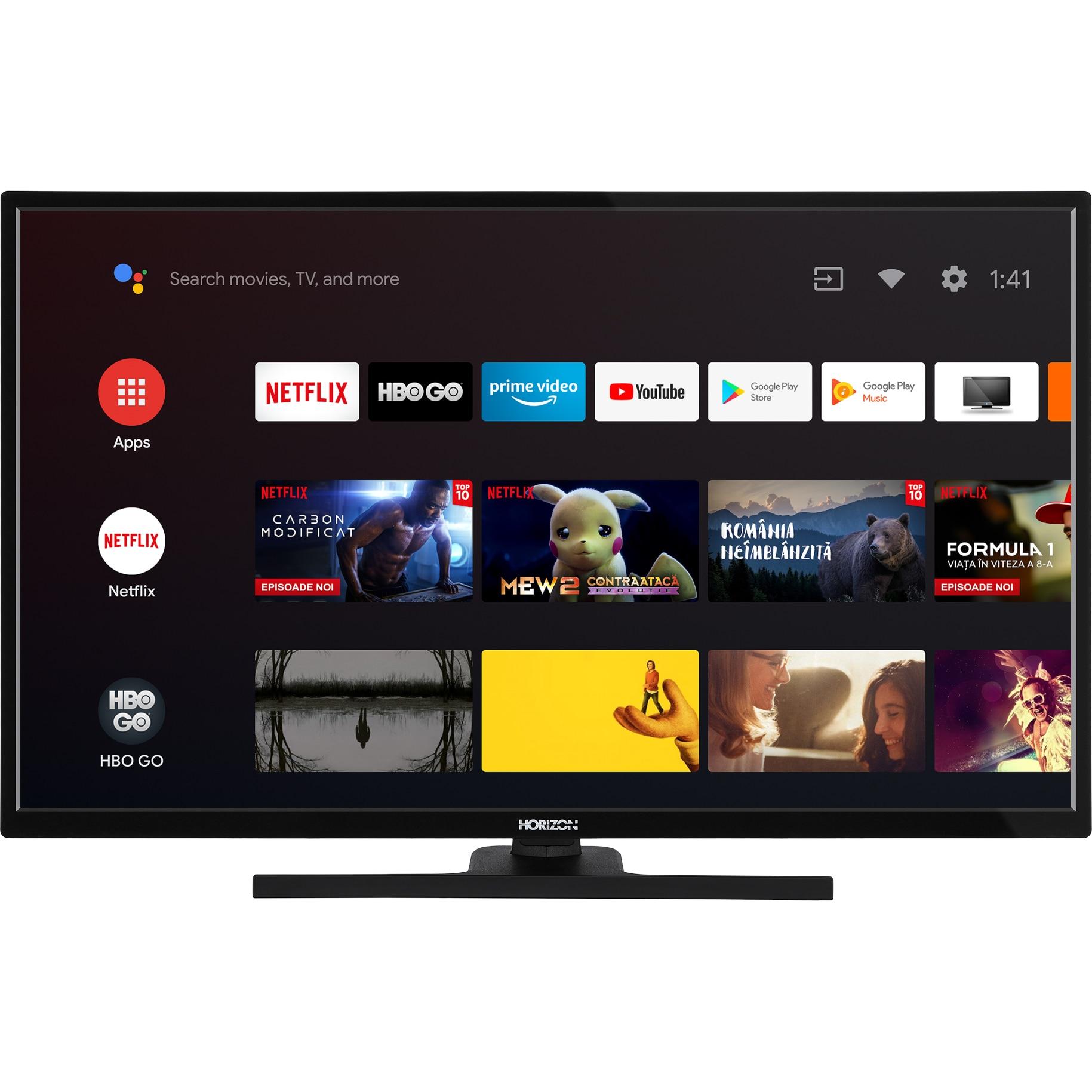 Fotografie Televizor HORIZON 32HL7390F/B, 80 cm, Smart Android, Full HD, LED, Clasa A+