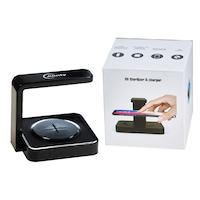UV telefon sterilizáló, maszk, Alinty AT66 tárgyak, vezeték nélküli gyors töltés és kábel, fekete