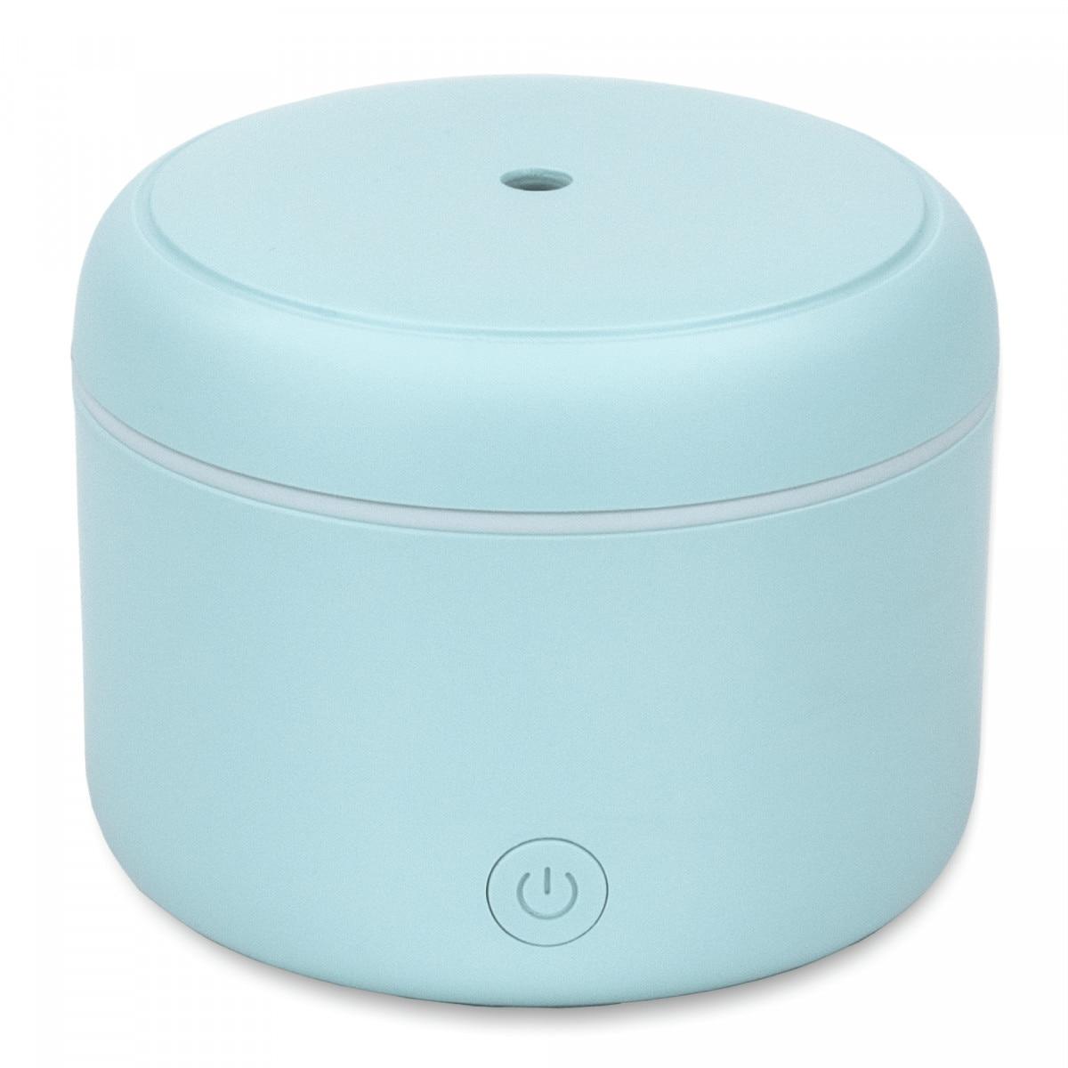 Fotografie Difuzor de Aroma cu Ultrasunete Turbionaire Puck Aqua, 7 Lumini LED interschimbabile, 5 W, Silentios, Portabil, Posibilitate alimentare USB, Oprire automata